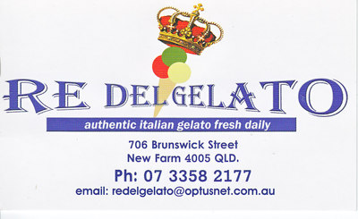 Re Del Gelato Business card side 1