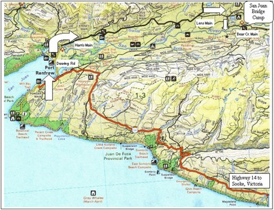 Road to Port Renfrew - copyright wildearthmap.blogspot.com