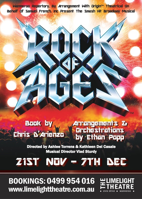 Rock of Ages, Limelight Theatre, musical, 80s, eighties, performing arts, Broadway, Tony Awards