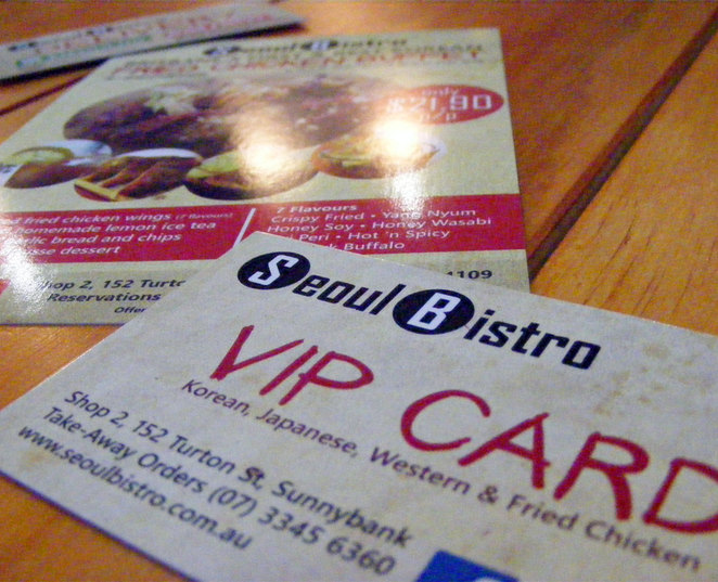 VIP loyalty cards are available