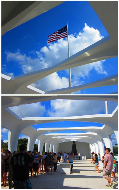 USS Arizona memorial, floating memorial, pearl harbor, hawaii