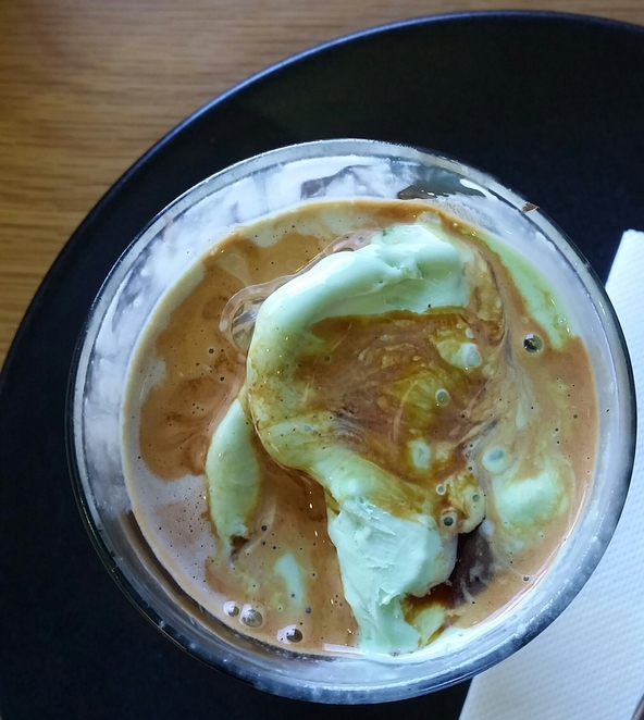 affogato ice cream coffee espresso liquid nitrogen