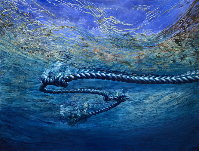art, jane james, underwater art, acrylic on linen