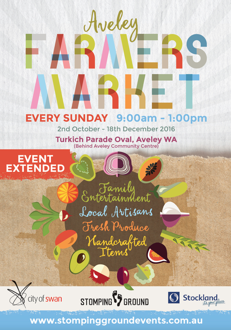 aveley farmers market, markets in perth, local produce, stomping ground events and promotions, ellenbrook markets, bella's beehive bath products