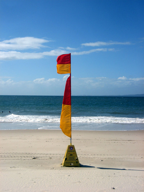 The Bribie Island Surf Club at Woorim Beach provides a safe place to swim