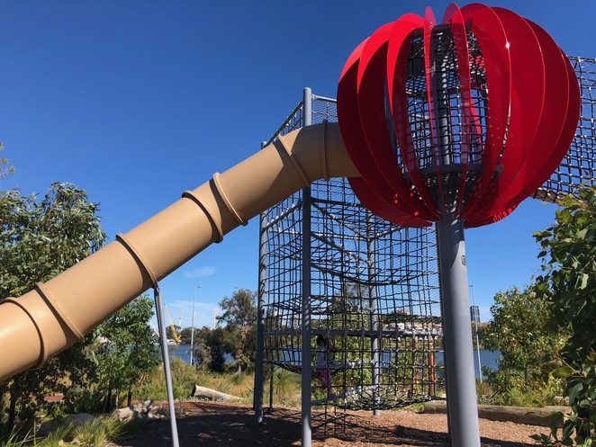 Chevron Parklands, Optus Stadium, Burswood Parks, Perth playgrounds, Perth nature playgrounds, Perth sports stadiums, Burswood playgrounds
