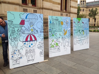 christmas, christmas pageant,xmas, christmas pageant trail, credit union pageant, adelaide, john martins