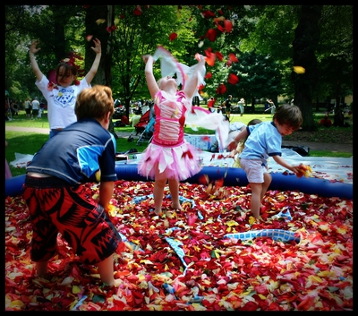 The Rose Petal Pool by Neal Gran, NYC 2008