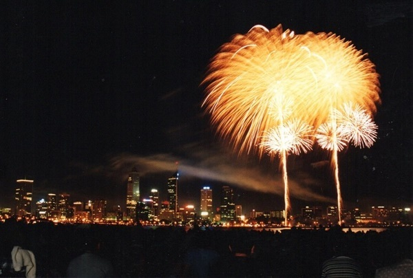 Fireworks,on,Australia,Day