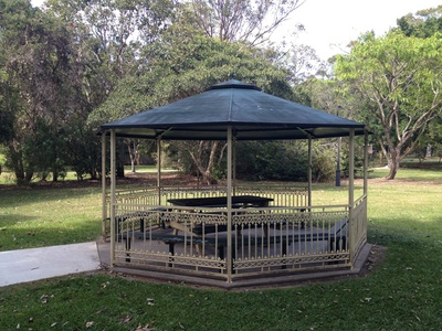 There are a couple of gazebos around for your advantage