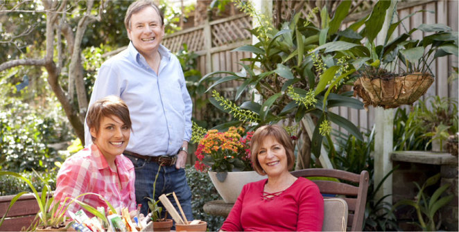 Graham, Sandra and LInda Ross of Ross Garden Tours
