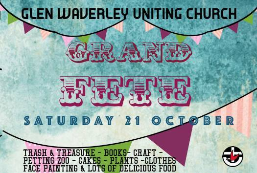 Grand Charity Fete at Glen Waverley Uniting Church