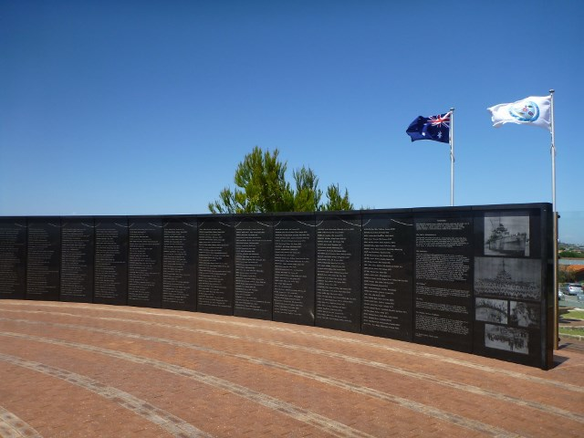 HMAS Sydney Memorial, Geraldton, do your own shore excursion, cruises,