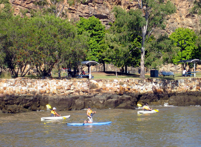 Paddling off Kangaroo Point