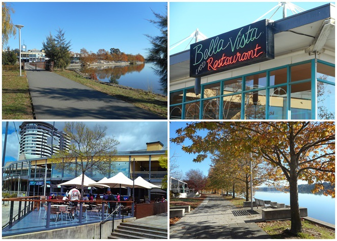 lake ginninderra, walks, paths, exercise, belconnen town centre, parks, playgrounds, restaurants, emu bank, john knight memorial park,