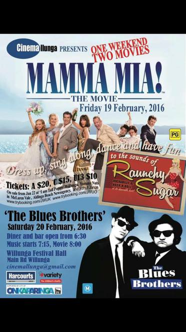 MAMMA MIA AND THE BlUES bROTHERS