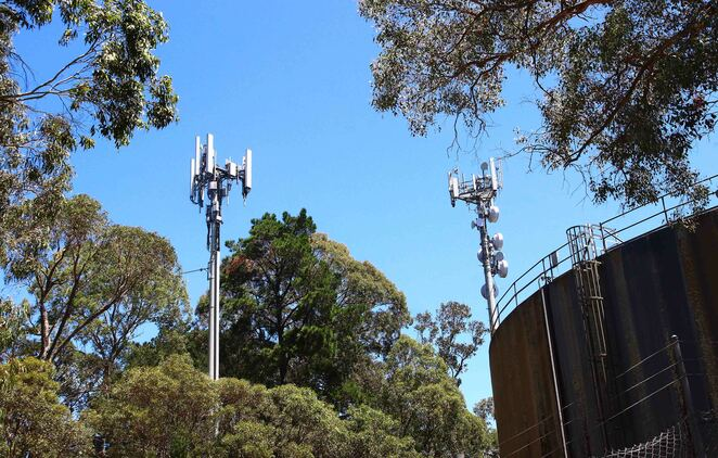 mobile phone towers.