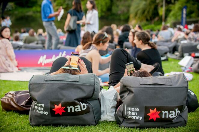 moonlight cinema 2019 march program, moonlight cinema melbourne 2019, community event, fun things to do, outdoor cinema, movie buff, food truck, coffee van, bar, botanic gardens melbourne, films, film stars, in the park, movies under the stars, family fun, gold grass, picnic at the movies