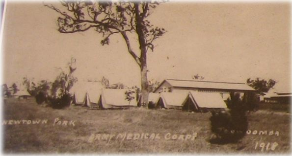 Newtown Park 1918 military base