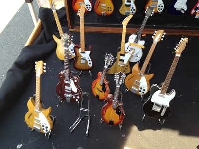 One of my favourites - the mini replica guitars