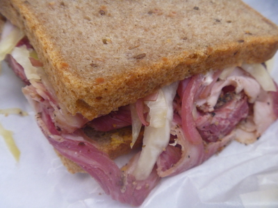 Pastrami sandwich at All Good Things Dickson's Meats