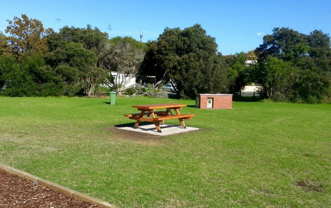 Park, BBQ, Bin, Picnic Table