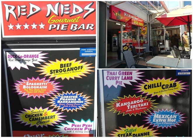 red neds, pies, nelson bay, sausage rolls, best pies, port stephens, NSW, best pies in nelson bay, pies,