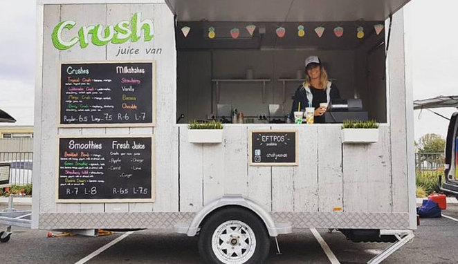 Roleystone Christmas Twilight Market 2017 Crush Juice Van