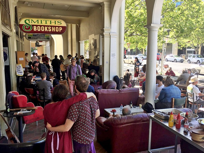 smiths alternative, canberra, ACT, bookshops, live music, cafe, nightlife,