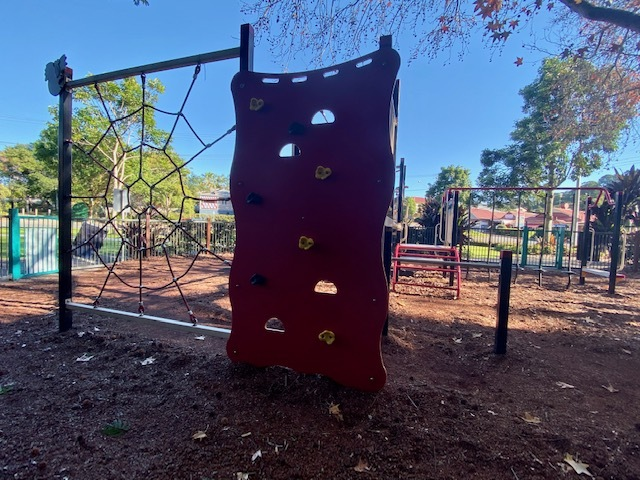 A large spider web and climbing wall ensure even older kids can challenge themselves here