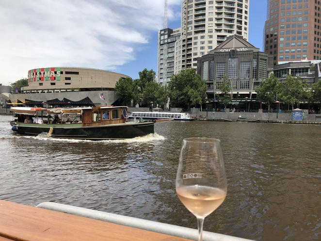Arbory Afloat Yarra River dining bar on the river