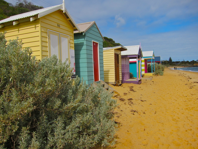 Bathing boxes, Mornington Peninsula, Victoria