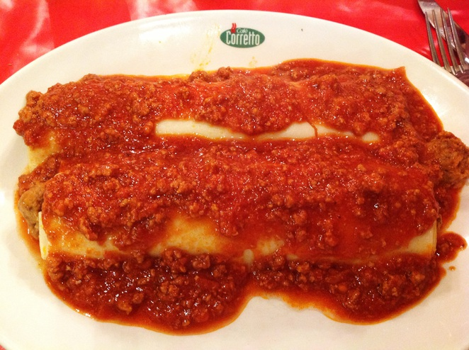 Beef Cannelloni with Bolognese sauce
