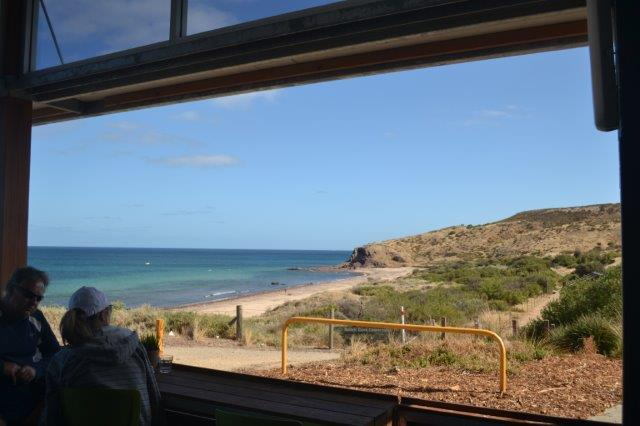 Glorious coastal views from the Boatshed Cafe