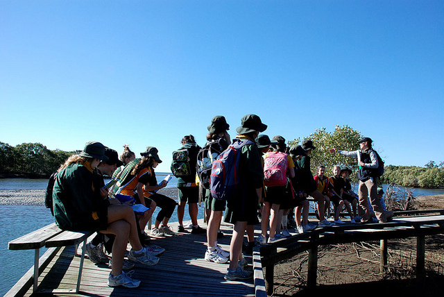 Kids on a fun learning experience at the Boondall Wetlands Environment Centre