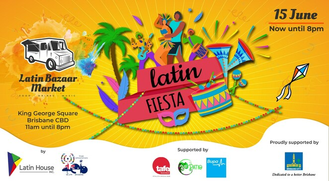brisbane festival latino 2019, community event, fun things to do, cultural event, radio latinoamericana brisbane australia, latinbazaar market, latin house inc, king george square, food, colours, music, latino american culture,, multicultural event, all day latin fiesta, free latin fiesta event