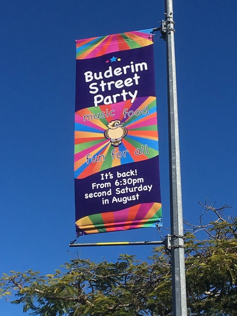 Buderim Street Party, fun for all ages, street vendors, buskers, entertainment, jumping castles, two stages with live entertainment, fun