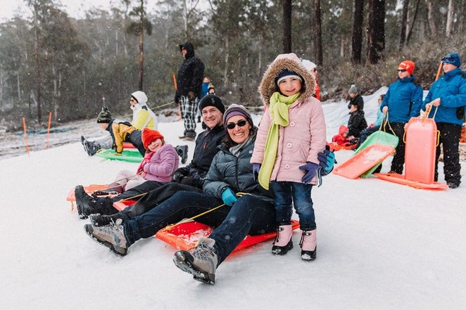 corin forest mountain restreat, canberra, winter events, 2018, snow, snow play, tabaggoning, skiing, closest snow to canberra, snow,