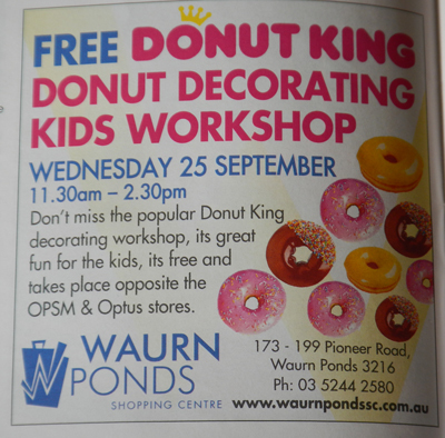 Donut Decorating @ Waurn Ponds Shopping Centre