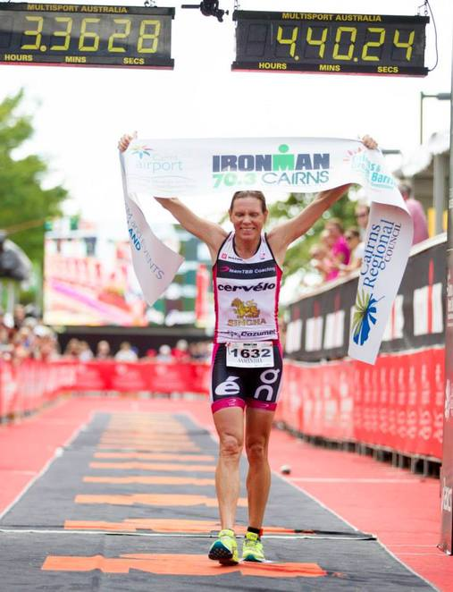 Be there when the winner of the inaugural Ironman 70.3 Sunshine Coast crosses the finish line/Image from Eyes Wide Open