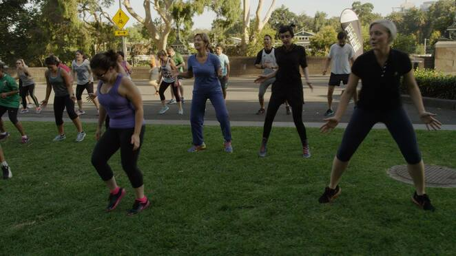 Federation Square Get Fit Healthy mornings