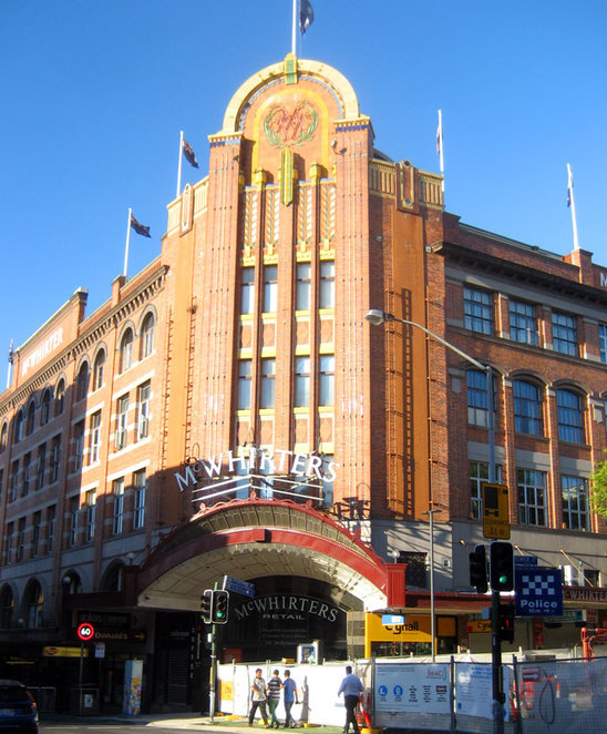 The iconic McWhirthers Building in Fortitude Valley