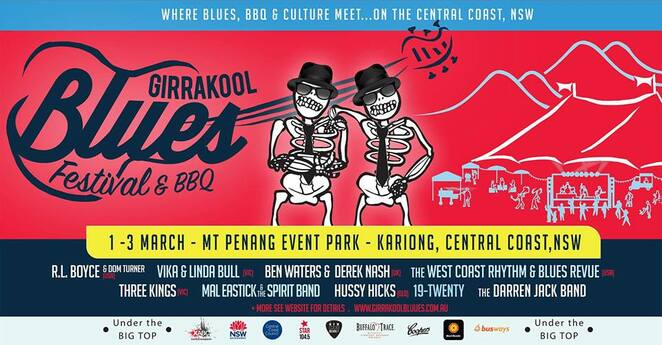 girrakool blues festival & bbq 2019, community event, blues festival, fun things to do, live music, bands, entertainment, bbq competition, mt penang event park, cultural event, r.l boyce with dom turner, vika & linda bull, ben waters & derek nashj, west coast rhythm & blues revue, three kings, mal eastick and the spirit band, darren jack band, steve edmonds blues quartet, hussy hicks, 19 twenty, buddy knox blues bnd, gambirra mob, minnie marks, jesse redwing, owen campbell, ghost road, the burbon streert gloombusters, big sky mountain, leny's girl, school of rock,