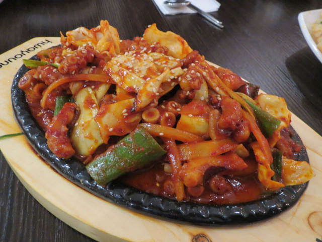 Han Cook Korean Restaurant, Stir-fried Spicy Octopus, Adelaide