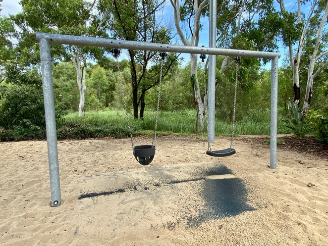 The swings are suitable for a variety of ages