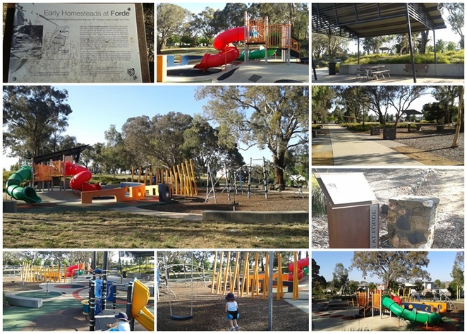 heritage park, heritage pathway, canberra, forde, playgrounds, local history, early settler history, things to do in forde, ACT,