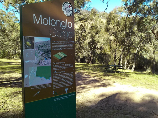 Molonglo Gorge, Canberra