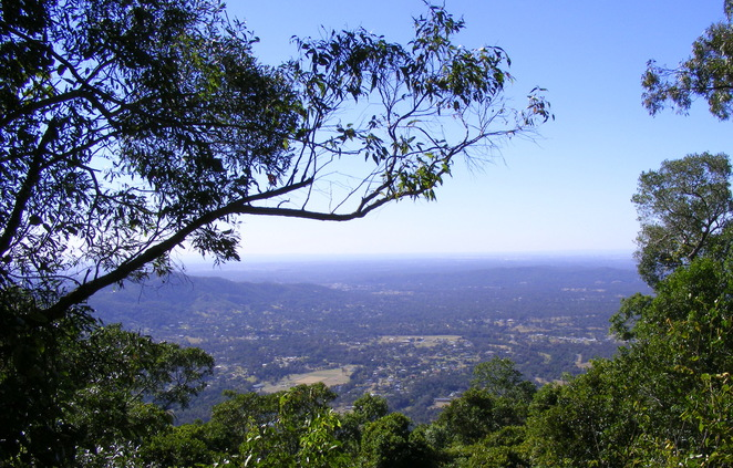 The view of the Samford Valley from Mt Nebo Lookout