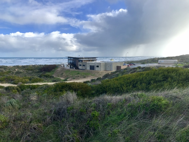 Nestled between the dunes and the sea at Goolwa Beach