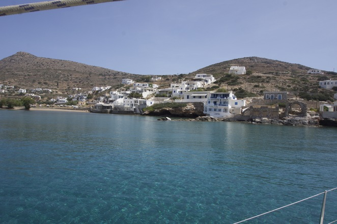 One of the ports in the Cyclades
